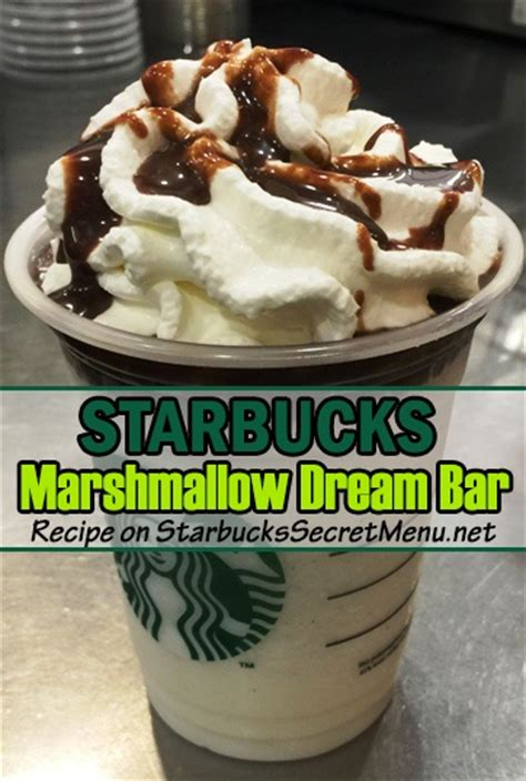 Delicious mocha sauce is combined with marshmallow syrup, topped with marshsmallow flavoured whipped cream and finished with a. Starbucks Marshmallow Dream Bar Frappuccino | Starbucks Secret Menu