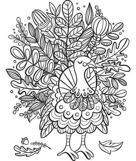 turkey foliage coloring page crayolacom
