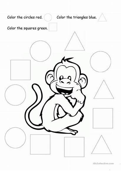 Shapes Coloring Basic Esl Worksheets English Colour