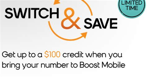 porting phone number 100 credit for porting your phone number to boost mobile