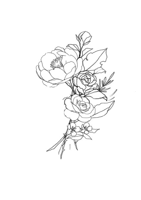 Inspiration for Cute Simple Mini Flower Tattoo Ideas Awesome Mini Bouquet Of Flowers Female