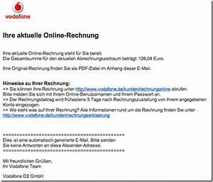 Vodafon Rechnung Online Ansehen : virusmail von der schufa und vodafone provinzblogger ~ Themetempest.com Abrechnung