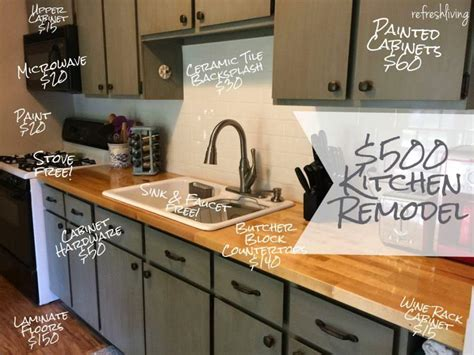 kitchen countertop ideas on a budget kitchen refresh on a 500 budget refresh living