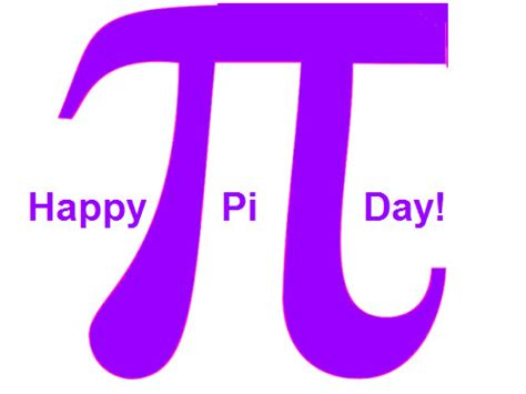 Pi Day March 14 2018