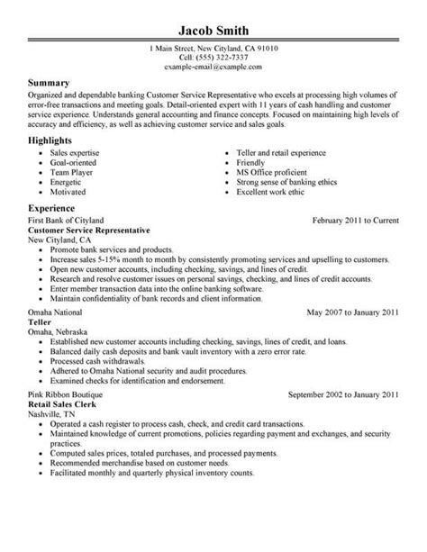 Financial Service Representative Resume by Customer Service Financial Resume Customer Service