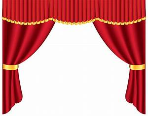Transparent red curtain png clipart clipart best for Red curtains transparent