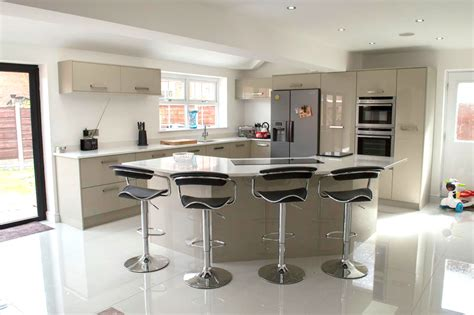kitchen design uk designer new kitchen at their home in leigh 4502