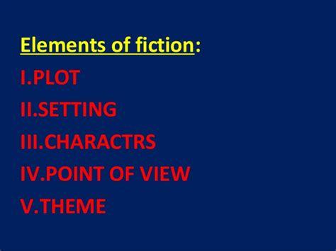 Elements Of Fictionppt