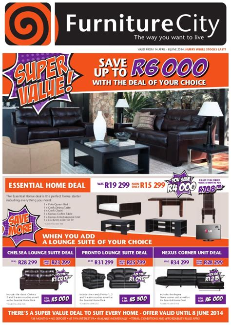 furniture city super  catalogue
