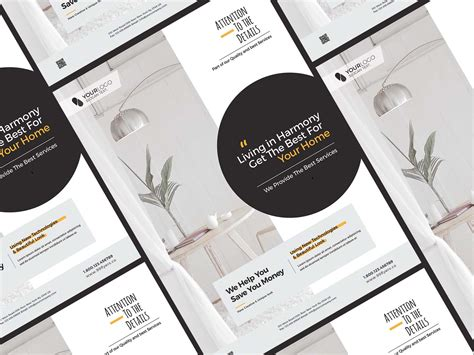 minimal furniture flyer template psd