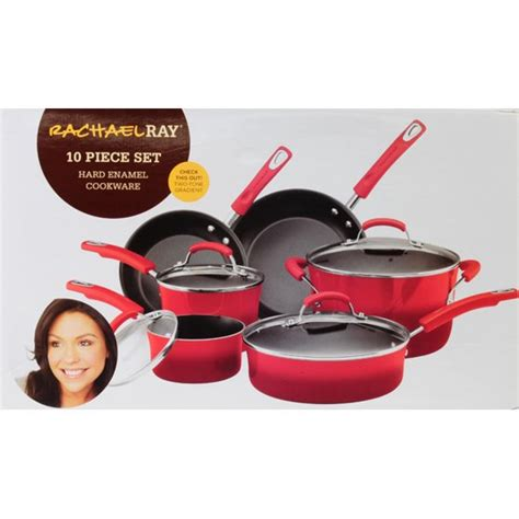 rachael ray stainless steel pcs cookware set