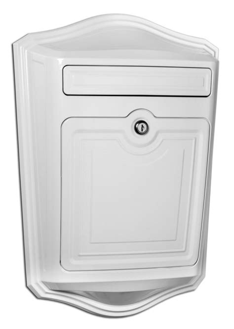 wall mount mailbox architectural mailboxes saratoga locking wall mount 4612