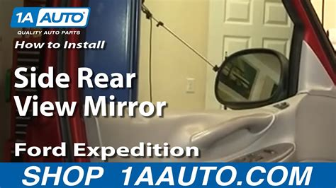 install replace side rear view mirror ford