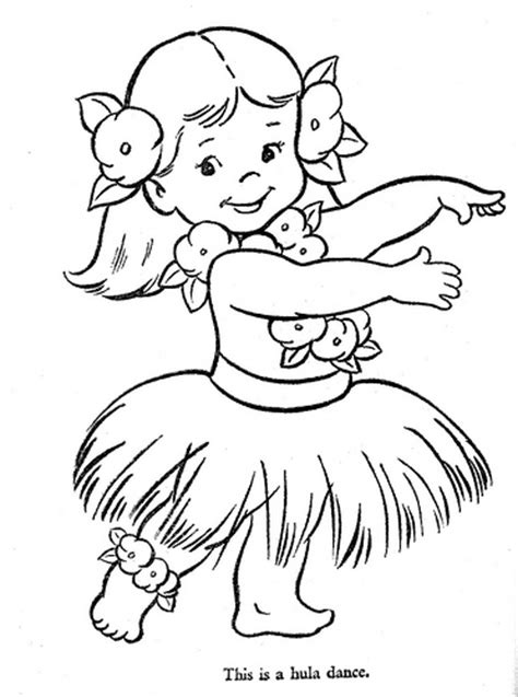 hula coloring pages getcoloringpagescom