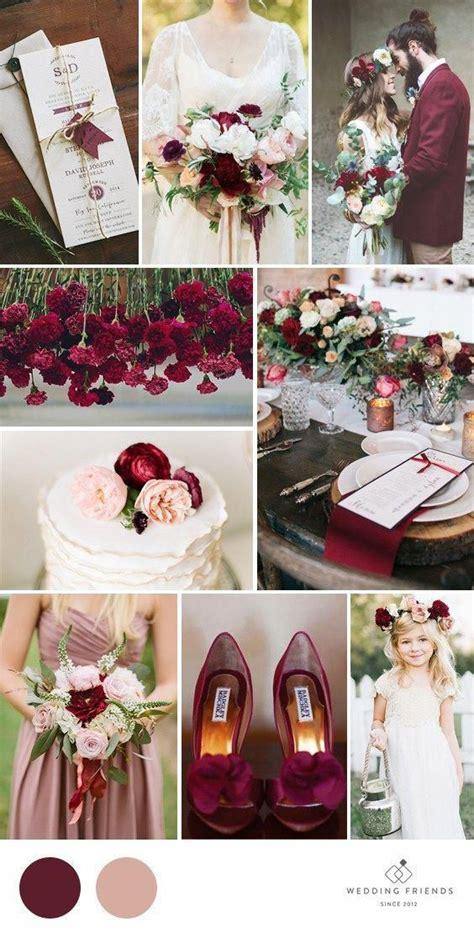 Dusty rose wedding Marsala & Dusty Rose Wedding