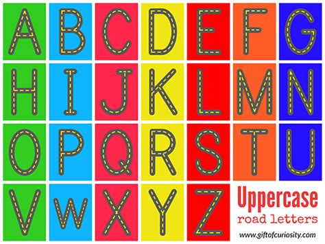 Free Road Letters Printable For Learning The Alphabet