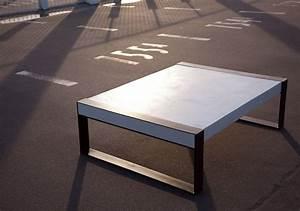 Table Basse En Beton : table effet beton cir ~ Teatrodelosmanantiales.com Idées de Décoration