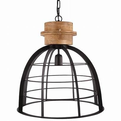 Hanglamp Ingmar Zwart Hout Mat Lamp Pendant