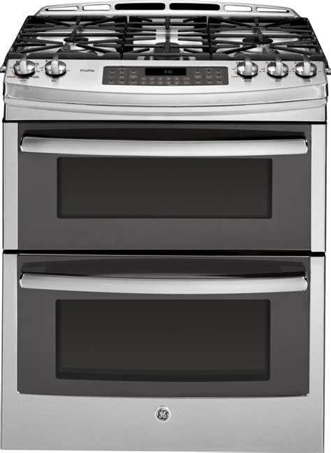 ge pgssefss     double oven gas range  convection simmer burner reversible