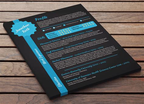 baker cv black under blue resume resume baker
