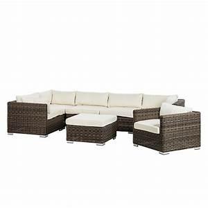 Polyrattan Lounge Sale : lounge set royal comfort 7 teilig polyrattan textil home24 ~ Whattoseeinmadrid.com Haus und Dekorationen