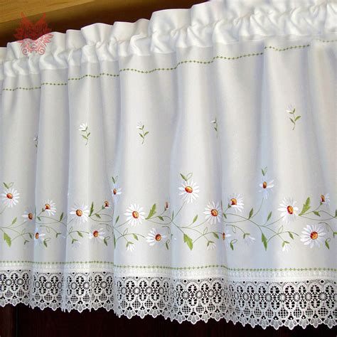 white lace kitchen curtains get cheap lace curtains for kitchen aliexpress