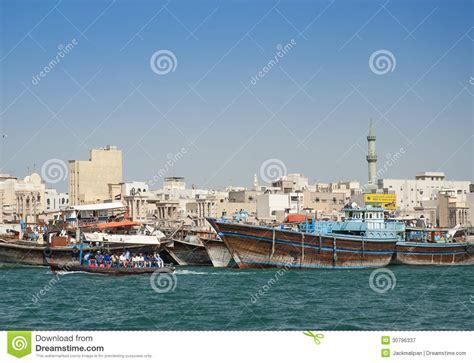 Fishing Boat In Dubai by Fishing Boats In Dubai Harbour Editorial Photography