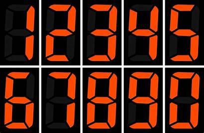 Display Numbers Segment Orange Number Clock Digital