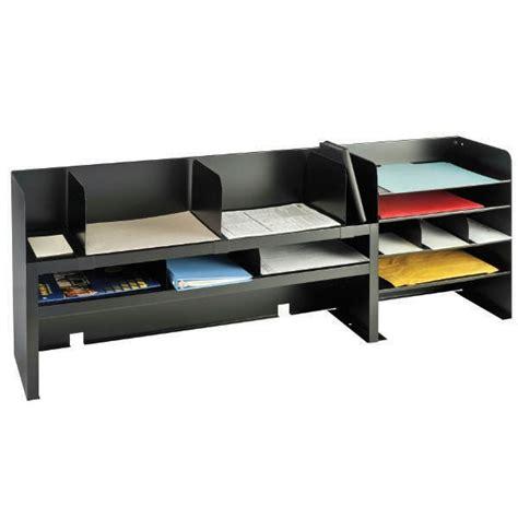 black desk with shelves desk organizer with adjustable shelves black mmf industries