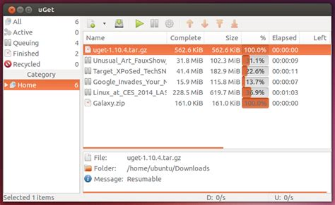uget the best manager for ubuntu linux