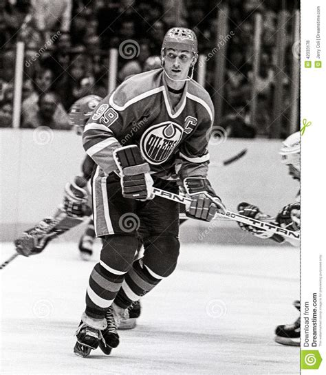 Wayne Gretzky Edmonton Oilers Editorial Stock Photo