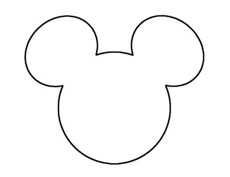 mickey mouse printable template mickey mouse template ears studio design gallery