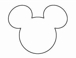 mickey mouse template crafty ideas pinterest With mickey mouse head shape template