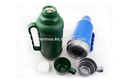 600ml Thermos Flask Water Bottle Two Cups Plastic Thermos