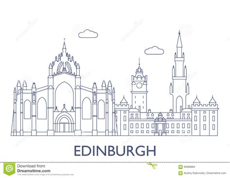 Edinburgh. The Most Famous Buildings Of The City Stock