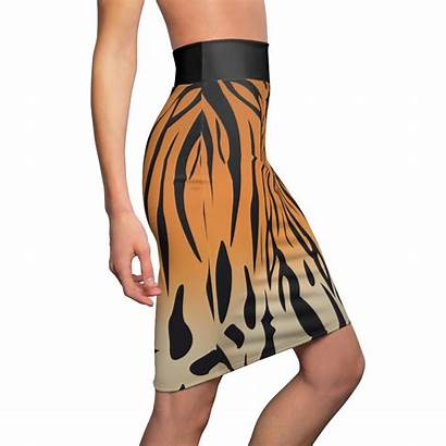 Skirt Pencil 2xl Tiger Extra