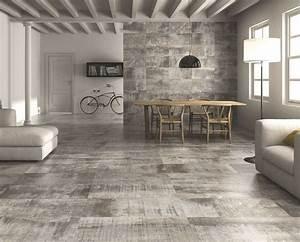 Carrelage Interieur Gris : un carrelage gris sol carrelage et parquet ~ Melissatoandfro.com Idées de Décoration