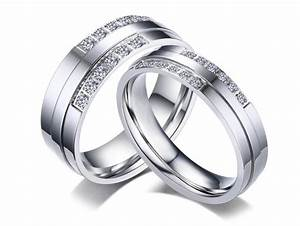 stainless steel cz wedding rings wholesale With stainless steel wedding rings