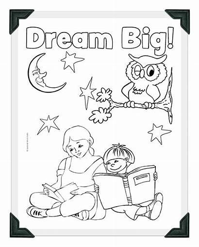 Coloring Library Pages Dream Sheets Sheet Week