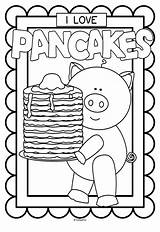 Printables Pancake Coloring Pancakes Preschool Posters Colouring Pages Pajama Crafts Activities Party Letter Pajamas Give Pj Kindergarten Everyone Much Pig sketch template