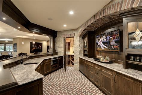 brick arch kitchen traditional with transom window black