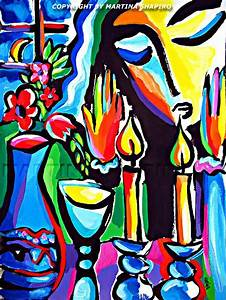 Expression Of Shabbat still life painting, Jewish painting ...