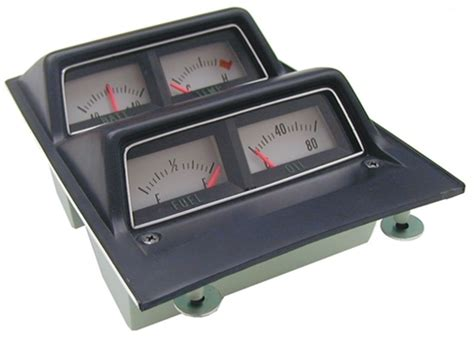 Camaro Console Assembly With Gauges Battery