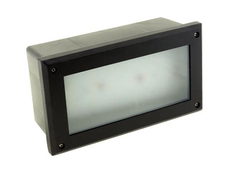 modern white led outdoor garden recessed brick wall light