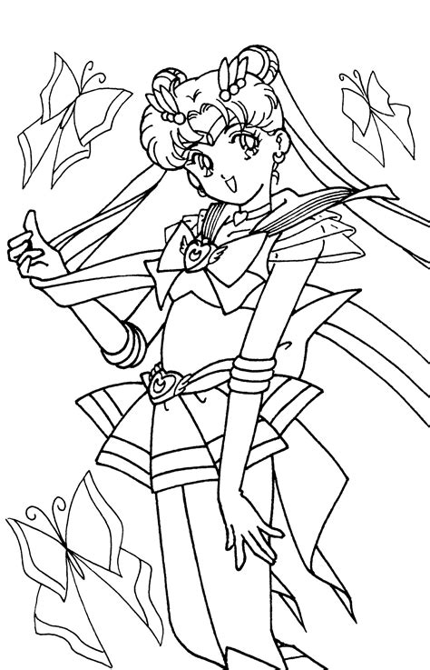 sailor moon and friends coloring pages sailor moon