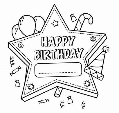 Coloring Birthday Happy Pages Printable Teachers Sheet