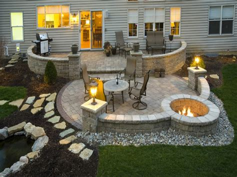 Stone Patterns For Patios, Patio With Fire Pit Ideas Patio