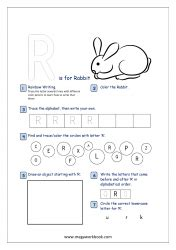 alphabet recognition activity worksheets  capital