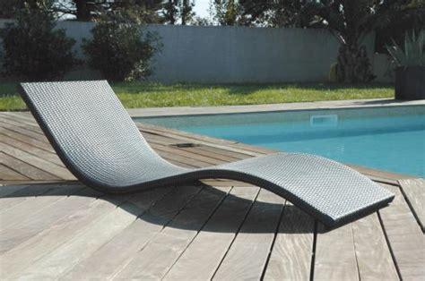 transat de piscine design r 233 sine tress 233 e anthracite socle modulable