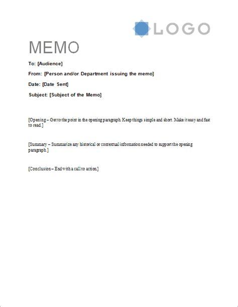 Free Memorandum Template  Sample Memo Letter